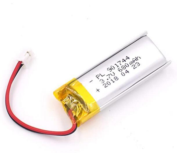 XP Deus battery 680mAh capacity on Amazon